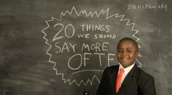 """""""20 điều nên nói nhiều hơn"""" của cậu bé 10 tuổi nổi tiếng khắp thế giới"""