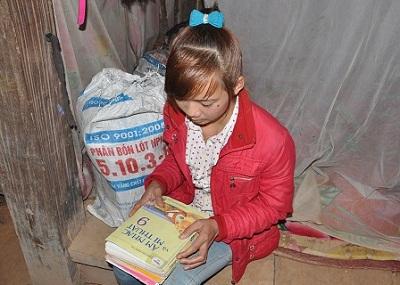 Cô bé 15 tuổi vẫn luôn mơ ước được tiếp tục đến trường