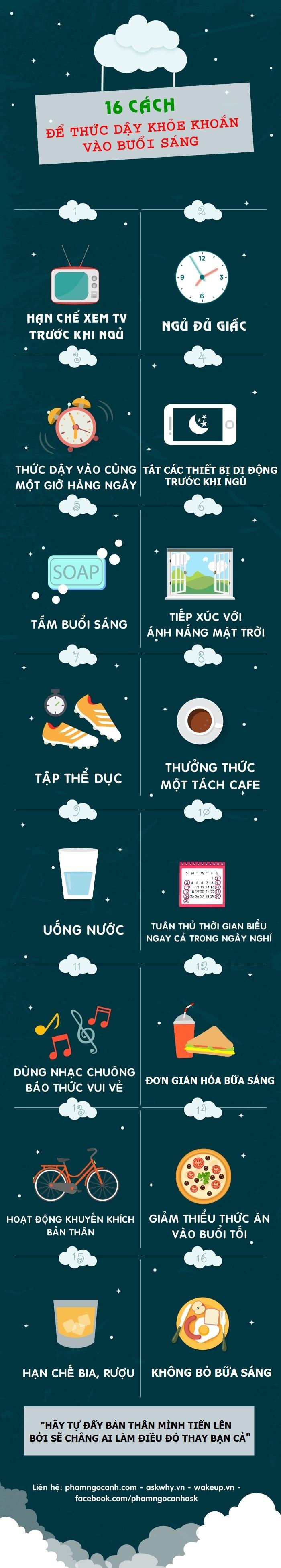 Sống hạnh phúc mỗi ngày: 16 cách để thức dậy khỏe khoắn vào buổi sáng