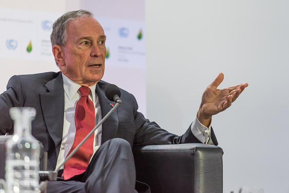 PARIS, FRANCE - 2015/12/04: Michael Rubens Bloomberg delivers a speech during the Mayors Summit, as part of the World Climate Change Conference (COP21). (Photo by Jonathan Raa/Pacific Press/LightRocket via Getty Images)