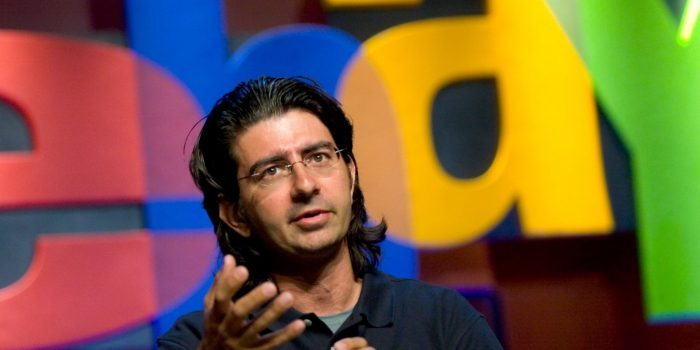 Pierre Omidyar, founder and chairman of the board of eBay, speaks at the eBay Developer's Conference in Boston, Massachusetts, Wednesday, June 13, 2007. (Photo by JB Reed/Bloomberg via Getty Images)
